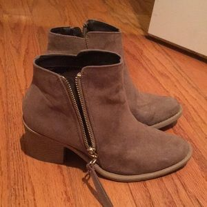 Taupe colored ankle boots